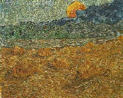 VanGogh-Evening Landscape with Rising Moon