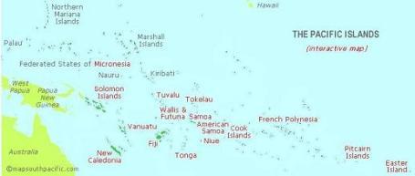 Mapa Oceano Pacífico