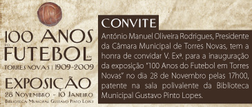 Exposição 100 anos futebol Torres Novas