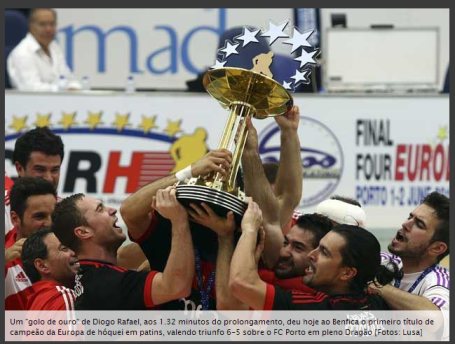 Benfica Campeao Europeu Hoquei 2013