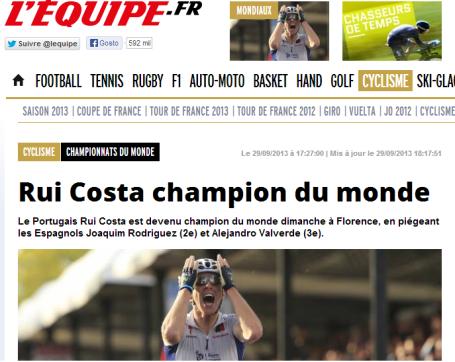 Rui Costa - L'Équipe
