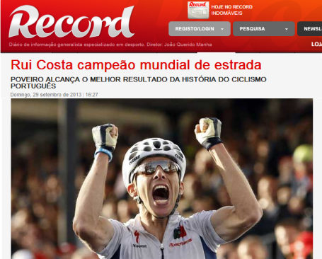 Rui Costa - Record
