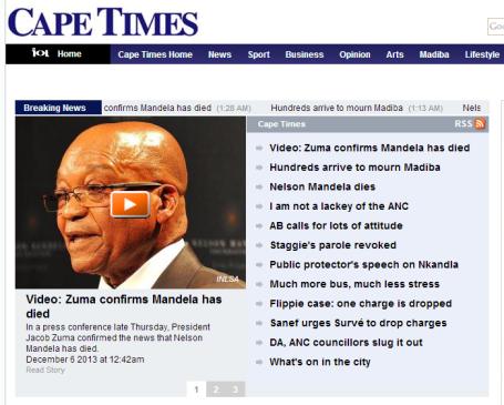 Mandela - Cape Times